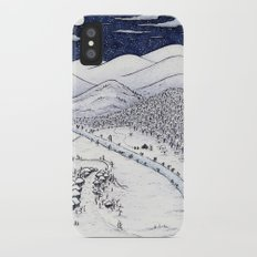 Snowy Night in Japan iPhone X Slim Case