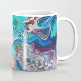 Fluid Nature - Rainbow Sea Dragon - Abstract Acrylic Pour Art Coffee Mug