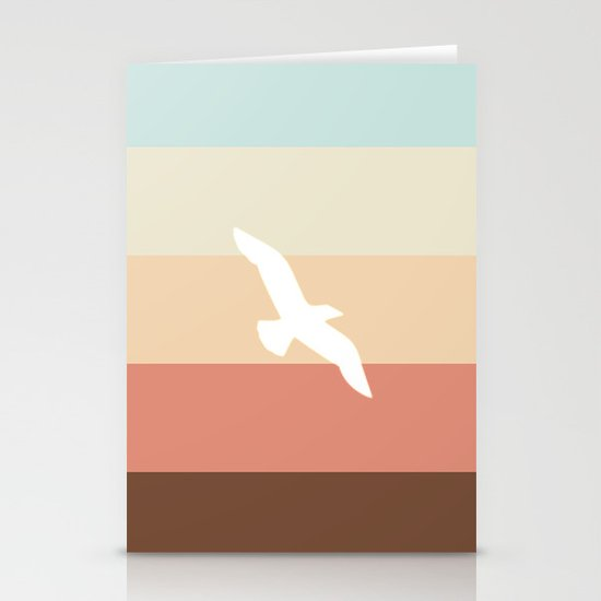 Out At Sea Series - Sun, Sand and Seagulls Stationery Cards