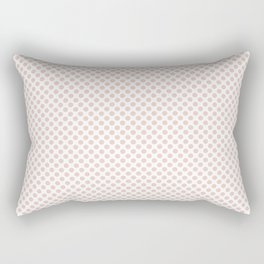 Pale Dogwood Polka Dots Rectangular Pillow