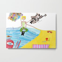 The Sand and The Sea Metal Print