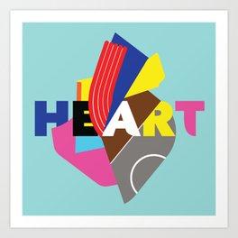 Heart (typography) Art Print