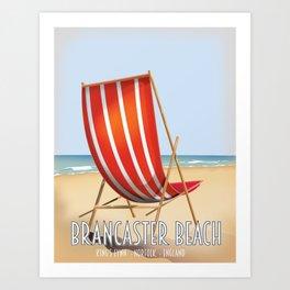 Brancaster Beach Norfolk. Art Print