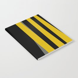 yellow gray and black Notebook