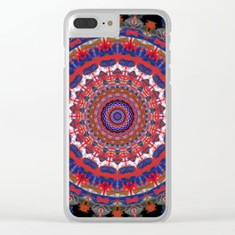 Amish Quilt Clear iPhone Case