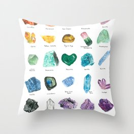 Rainbow Chart Throw Pillow