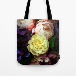 Shabby Chic Flowers Pattern Tote Bag