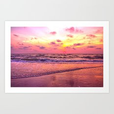 A View For the Soul Sunset Art Print
