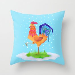 New Year rooster 2017 Throw Pillow