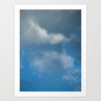 Grace blue version Art Print