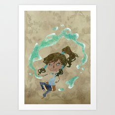 Chibi Korra Art Print