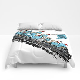 Team Zissou Crossing the Delaware Comforters