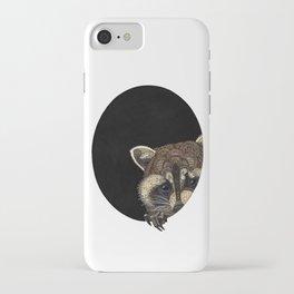 Socially Anxious Raccoon iPhone Case