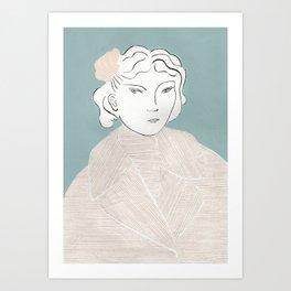 Seashell Hair Clip Art Print