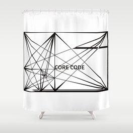 Core code Shower Curtain