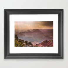 Grand Canyon Rainfall - South Rim Framed Art Print
