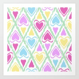 Abstract drawing Heart. Art Print