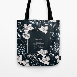 When the day shall come that we do part... Jamie Fraser Tote Bag