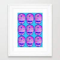 sugar skulls Framed Art Prints featuring Sugar Skulls by GLITTER PICNIC
