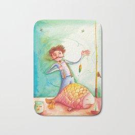 The big fish ( Nagy fogás by Verabella Bath Mat