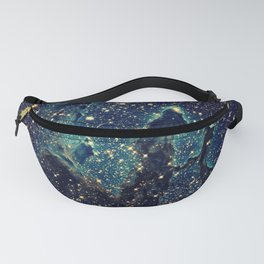 Pillars of Creation GalaxY  Teal Blue & Gold Fanny Pack
