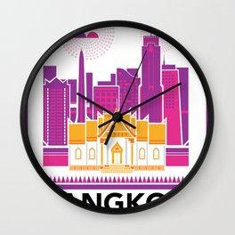 City Illustrations (Bangkok, Thailand) Wall Clock