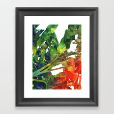 Bananas leaves Framed Art Print