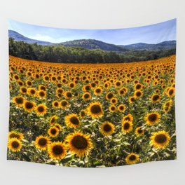 Sunflower Fields Of Dreams Wall Tapestry