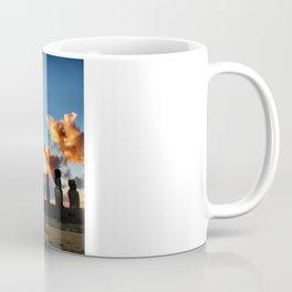 Sunrise behind the Moai Coffee Mug