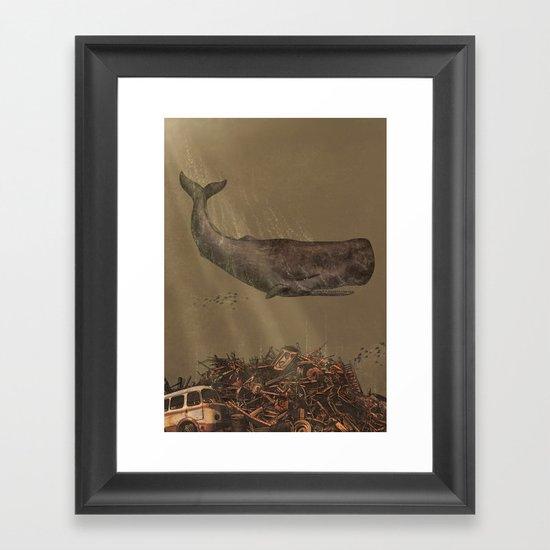 The Last Whale  Framed Art Print