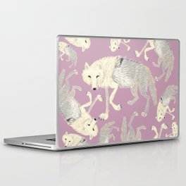 Totem Artic Wolf lilac Laptop & iPad Skin
