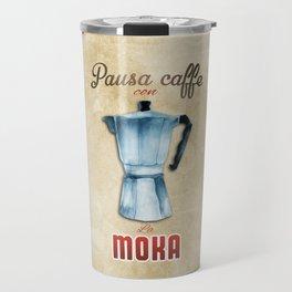 Cafe Poster: Coffee Break with Moka Travel Mug