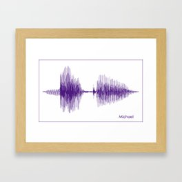 Michael Purple Framed Art Print