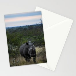 White Rhino Early Morning Stationery Cards