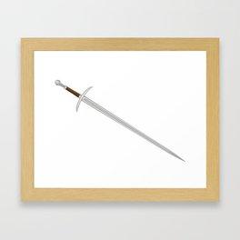 Knights Sword Framed Art Print
