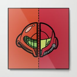 Old & New Samus Aran Metal Print