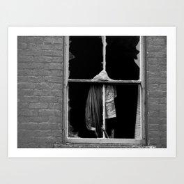 a broken window Art Print