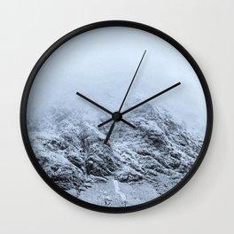 Letting go -  cold comfort in Glencoe Wall Clock