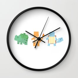 Pokesquare Starters Wall Clock