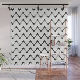 Jute in White and Black Wall Mural