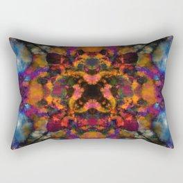 Psychedelic kaleidoscope cloud pattern Rectangular Pillow