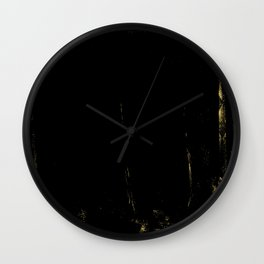 Black and Gold grunge modern abstract background I Wall Clock