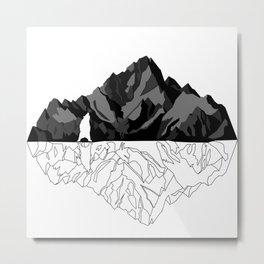 Mountains Bear Metal Print