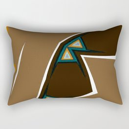 Brown Zags Rectangular Pillow