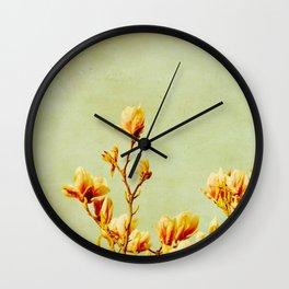 wednesday's magnolias Wall Clock