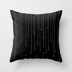 WHITE LITTLE RAIN Throw Pillow