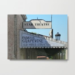 The Old Star Theatre on Main St Metal Print