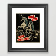Ride, Ride, Pony, Ride, Ride Framed Art Print