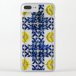 Portuguese Tiles Clear iPhone Case