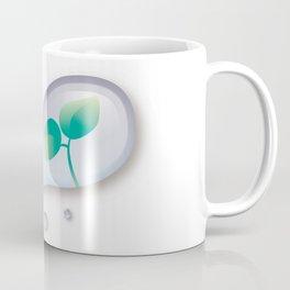 Leaf reflected in a drop of water Coffee Mug